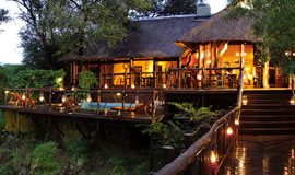 Deck of the Madikwe River Lodge